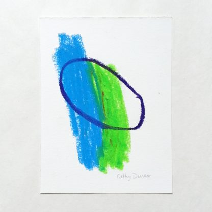 Composition with Blue, Green, Purple