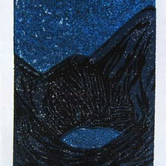 Dark Landscape/Hidden Lake - linocut by Cathy Durso
